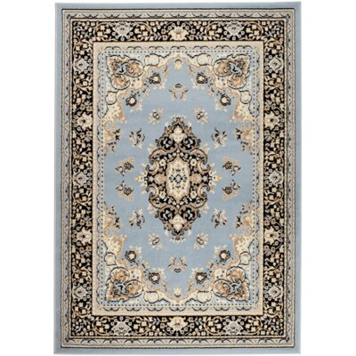 Chateau Light Blue Area Rug Rug Size: 5 x 7