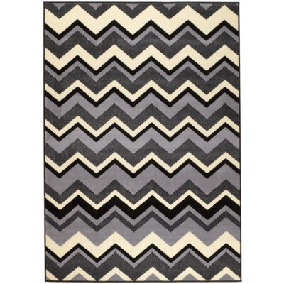 Chateau Black/Gray Area Rug Rug Size: 74 x 106