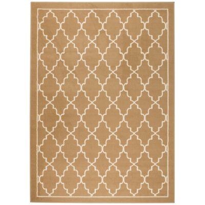 Chateau Beige/White Area Rug Rug Size: 110 x 211