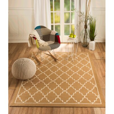 Chateau Beige Area Rug Rug Size: 110 x 211