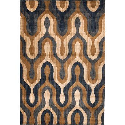 Venice Brown/Beige Area Rug Rug Size: 38 x 5