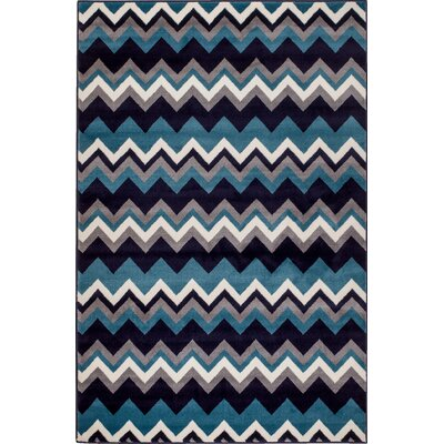 Summit Elite Navy Blue Area Rug Rug Size: 4 x 5