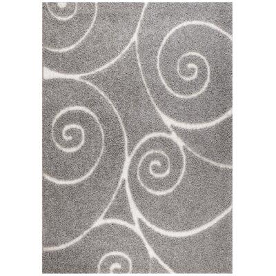 Quaoar Gray Area Rug Rug Size: 2' x 3'