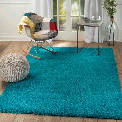 Supreme Teal Area Rug Rug Size: Rectangle 39 x 59