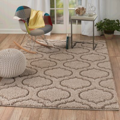Quaoar Brown Area Rug Rug Size: 39 x 59