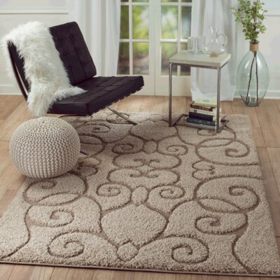 Loren Brown Area Rug Rug Size: 5 x 7