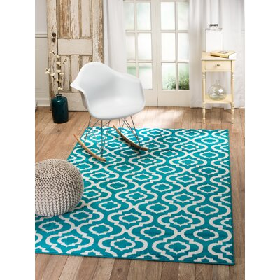Summit Turquoise Indoor Area Rug Rug Size: 74 x 106