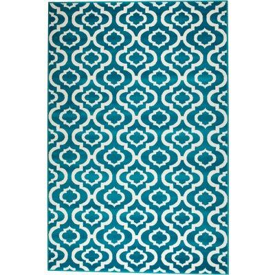 Moran Turquoise Indoor Area Rug Rug Size: 3'8'' x 5'