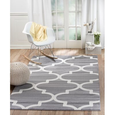Frieda Gray Indoor Area Rug Rug Size: 74 x 106