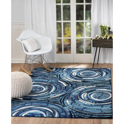 Chatham Wool Blue/White Area Rug Rug Size: Runner 18 x 7
