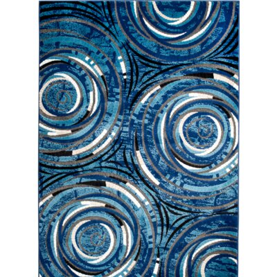 Chatham Blue Area Rug Rug Size: 3'7'' x 5'