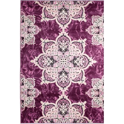 Chatham Magenta Area Rug Rug Size: 7'4'' x 10'6''