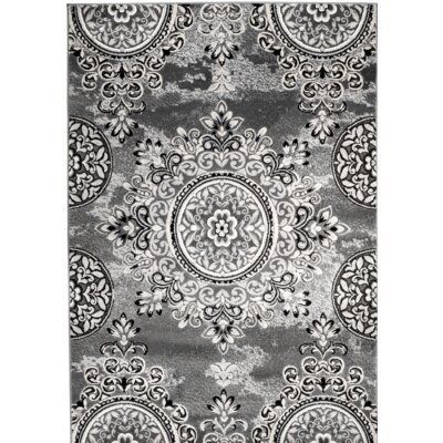 Chatham Gray Area Rug Rug Size: 110 x 211