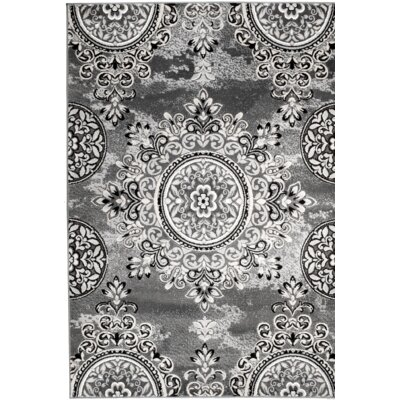 Chatham Gray Area Rug Rug Size: 38 x 5
