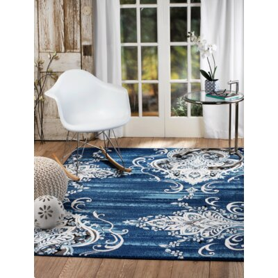 Chatham Blue Area Rug Rug Size: Runner 1'1 x 7'