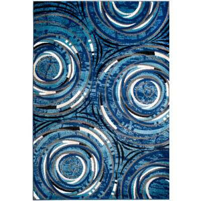 Chatham Blue Area Rug Rug Size: 1'10