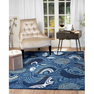 Chatham Blue Area Rug Rug Size: 110 x 211