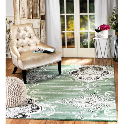 Chatham Green Area Rug Rug Size: Runner 1'1 x 7'