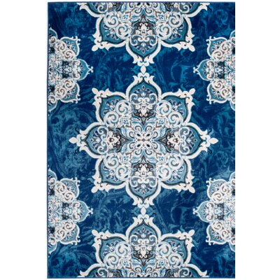Chatham Blue Area Rug Rug Size: 3'8'' x 5'