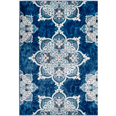 Chatham Blue Area Rug Rug Size: 74 x 106