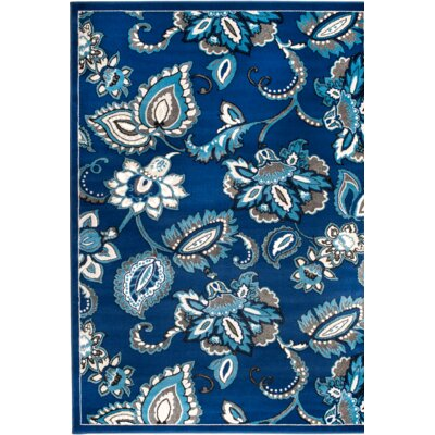 Chatham Blue Area Rug Rug Size: 5 x 7