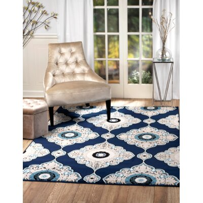 Chatham Blue Area Rug Rug Size: Runner 110 x 7