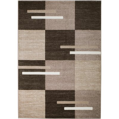 Grimes Brown/Taupe Area Rug Rug Size: 36 x 5