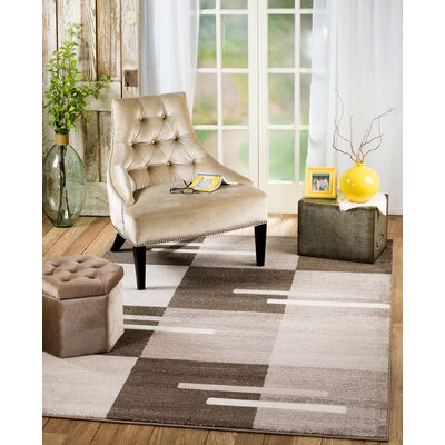 Grimes Brown/Taupe Area Rug Rug Size: Runner 2 x 7