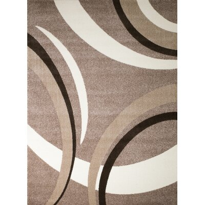 Grimes Taupe/Beige Area Rug Rug Size: 5' x 7'