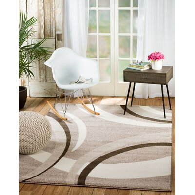 Grimes Taupe/Beige Area Rug Rug Size: Runner 2 x 7