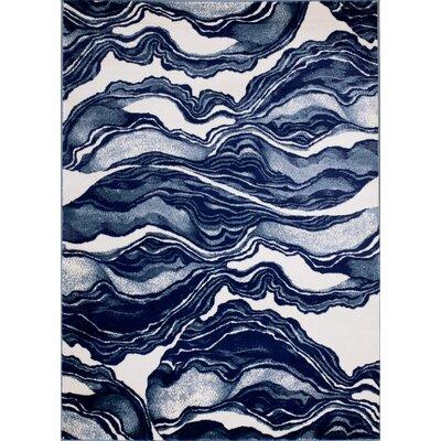 Cretys Marble Linen Area Rug Rug Size: 5 x 7