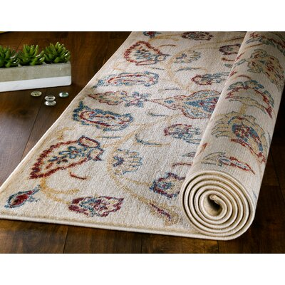 Chartridge Oriental Cream Area Rug Rug Size: 74 x 106