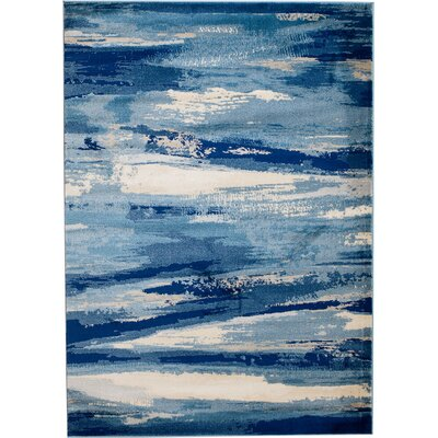 Sawyer Seascape Navy Blue Area Rug Rug Size: 36 x 5