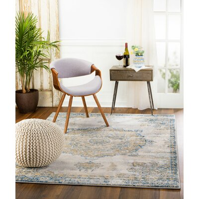 Amy Royal Medallion Gray Area Rug Rug Size: 3'6'' x 5'