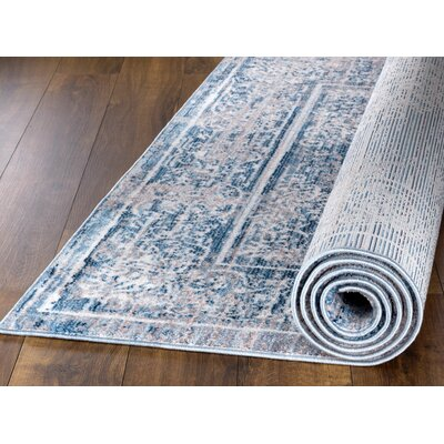 Andrews Vintage Kashan Blue Area Rug Rug Size: Rectangle 2 x 3