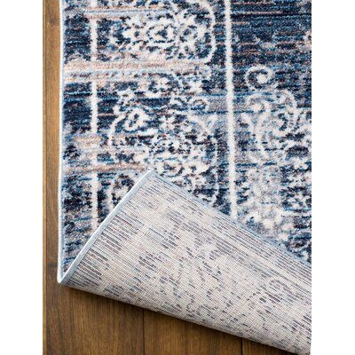 Andrews Blue Area Rug Rug Size: 51 x 76