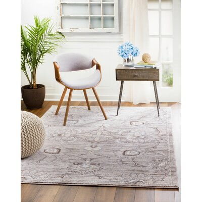 Andrews Brown Area Rug Rug Size: Rectangle 51 x 76