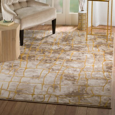 Tilbury Glamour Taupe Area Rug Rug Size: Runner 2 x 7