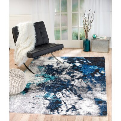 Colon Galaxy Blue/Gray Area Rug Rug Size: Runner 2 x 7