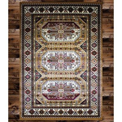 Anora Gabbeh Wool Beige Area Rug Rug Size: 2 x 3