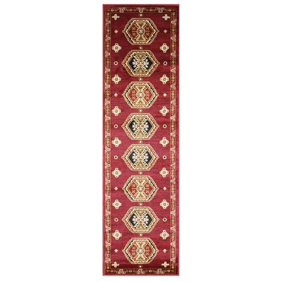 Anora Gabbeh Wool Red Area Rug Rug Size: Runner 2 x 7
