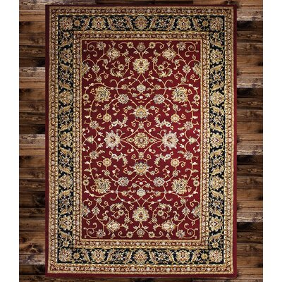 Zent Eclectic Burgundy Area Rug Rug Size: Rectangle 74 x 10.6