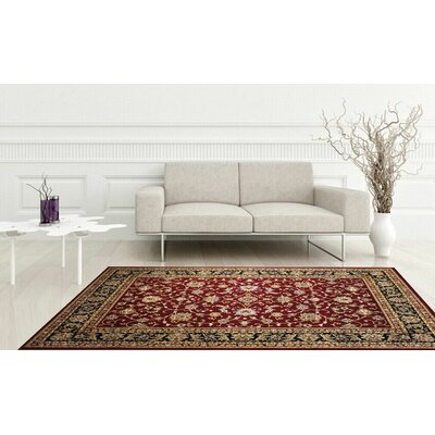 Zent Eclectic Burgundy Area Rug Rug Size: Rectangle 51 x 71