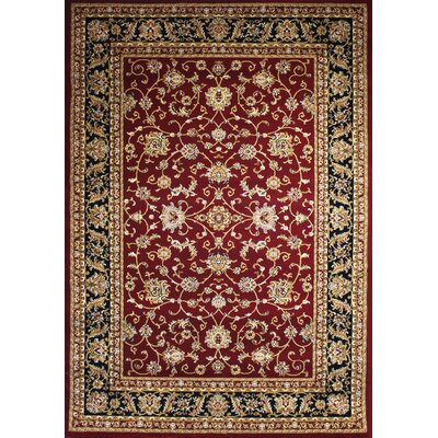 Zent Eclectic Burgundy Area Rug Rug Size: Rectangle 2 x 3
