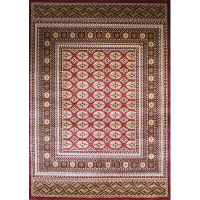 Dewayne Eclectic Burgundy Area Rug Rug Size: Rectangle 2' x 3'