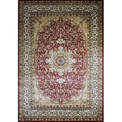 Zent Oriental Burgundy Area Rug Rug Size: Rectangle 51 x 71