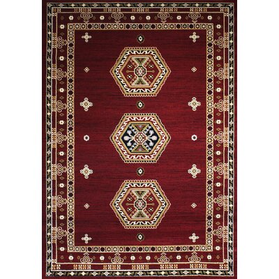 Dewayne Oriental Burgundy Area Rug Rug Size: Rectangle 37 x 5