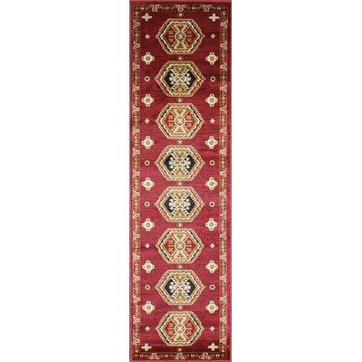 Dewayne Oriental Burgundy Area Rug Rug Size: Runner 3' x 10'