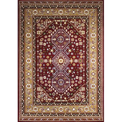 Zent Burgundy Area Rug Rug Size: Rectangle 2 x 3