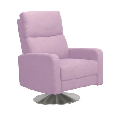 Roux Push Back Manual Swivel Recliner Upholstery: Purple